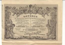 LOTERIE DE FRIBOURG . SUISSE - Billets De Loterie