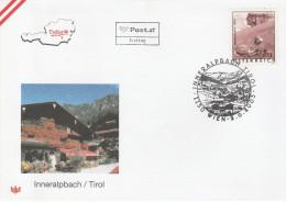 """AUSTRIA  2456 """"Ferienland Österreich:Inneralpbach,T Irol""""  Sonderstempel-FDC - FDC"""