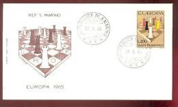 1965 SAN MARINO EUROPA CEPT FDC - FDC