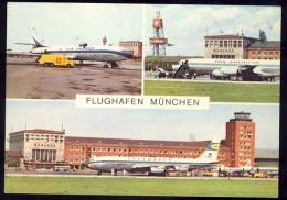 AK   AERODROME     FLUGHAFEN   MÜNCHEN   1971 - Aerodrome