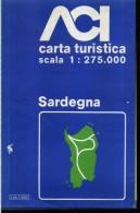 ACI CARTA TURISTICA SCALA 1 : 275.000 SARDEGNA - Carte Stradali