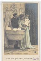24073 Bonheur Parfait -joli Tresor -Stebbing Paris Etoile -berceau Couple Bebe Femme Broderie