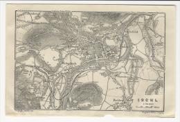 1908´s  Plan Of  ISCHL Bad Ischl  And Surroundings ( Kaltenbach Steinfeld Reitnerdorf Steinbruck  IEtc.) Gmunden Austria - Cartes Géographiques