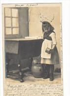 """24075 Serie Chanson """"il Etait Une Bergère""""-2 Ed Etoile CLayette Phoé-laitiere Fromage Chaton Lait Amour Enfant Patapon"""