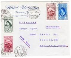 Italien 1932Hotel Helvetia Genua Brief Nach Meilen - Gute Frankatur - Italien