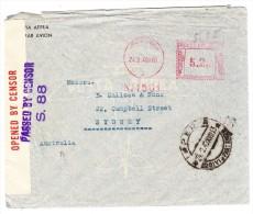 Italien 1940 Frama-Stempel 5.25 Auf Zensur Brief Von Oneglia Nach Sydney Selten - Italien