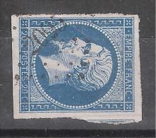 Empire N° 14 Obl PC 2095 De MONTFORT Sur RISLE, Eure,indice 5,1 VOISIN, TB - 1853-1860 Napoléon III