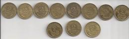 2 francs Morlon de 1931 � 1941 (S�rie compl�te )