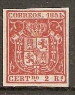 1854 EDIFIL 25** REIMPRESION - 1850-68 Reino: Isabel II