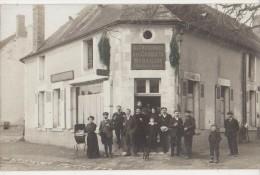 CPA PHOTO 58 MYENNES Près Cosne  Commerce Café Maison FOING A LA RENOMMEE DES CROQUETS Animation Rare - France