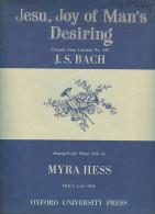 Partition Pour Piano Seul - J.S. BACH - Cantate N° 147  'Jesu, Joy Of Man's Desiring' (1926) - Klassik
