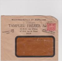 Ancienne  Enveloppe  Lettre :  LILLE ,  Tampleu  Freres - France