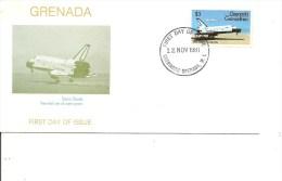 Espace -Space Shuttle ( FDC Des Grenadines De Grenade De 1981 à Voir) - FDC & Commemoratives