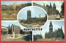 CARTOLINA VG REGNO UNITO - MANCHESTER - Panorama - Vedutine - 9 X 14 - ANNULLO 1969 - Manchester
