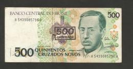 BRAZIL - BANCO CENTRAL Do BRASIL - 500 CRUZADOS NOVOS / CRUZEIROS ( With OVERPRINT) - Brasile