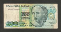 BRAZIL - BANCO CENTRAL Do BRASIL - 50 / 200 CRUZADOS NOVOS / CRUZEIROS ( With OVERPRINT) - Brasile