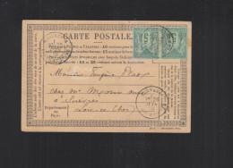 Carte Postale 1878 Montresor - Poststempel (Briefe)