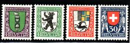 Suisse N° 218 à 221 - Série Complète - Très Beaux - Neufs Traces Charnières - Pro Juventute