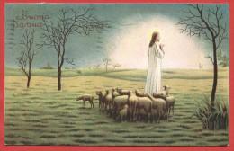 CARTOLINA VG ITALIA - BUONA PASQUA - Gesù Con Le Pecorelle - 9 X 14 - ANNULLO 1941 TORINO - Pasqua