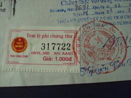 Vietnam Viet Nam ID Copy With Vinh Long 1000d Revenue Stamp 2002 - Viêt-Nam