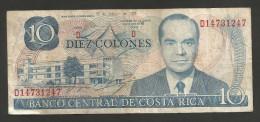 COSTA RICA - BANCO CENTRAL De COSTA RICA - 10 COLONES (1979) - Costa Rica