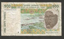 AFRICA - BANQUE CENTRALE Des ETATS De L' AFRIQUE De L'OUEST - 500 FRANCS (1997) - Banconote