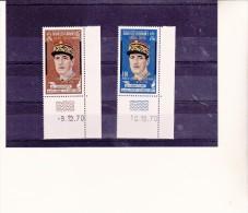 NOUVELLES HEBRIDES-N° 304-305- GENERAL DE GAULLE -1970- NEUF XX