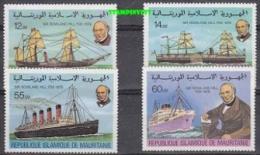 Mauretanie 1979 Ewoland Hill/ Ships 4v ** Mnh (18171) - Mauritanië (1960-...)
