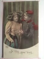 Guerre De 1914, Je Vous Aime Bien. Envoyée à Lavergne (Lot) - Guerre 1914-18