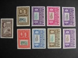 Liberia 9 Different MNH Ashmun Trial Colour Proofs 332,336(2),337(6) Check Them Out! - Liberia