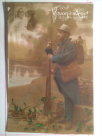 Guerre De 1914, Songez à L'absent Près Du Front, Soldat De Cahors - Guerre 1914-18