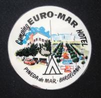 HOTEL RESIDENCIA MESON EURO EUROPA PINEDA DE MAR  BARCELONA SPAIN LUGGAGE LABEL ETIQUETTE AUFKLEBER DECAL STICKER MADRID - Hotel Labels