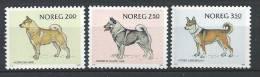 Norvège 1983 N°834/836 Neufs** Chiens - Norvegia