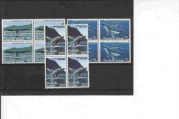 Norfolk Island 1995 Humpback Whales 3v Bl Of 4 ** Mnh (18182) - Norfolk Eiland