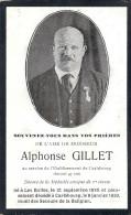 CARLSBOURG ..-- Mr Alphonse GILLET , Né à LES BULLES En 1876 , Décédé En 1939 . - Images Religieuses