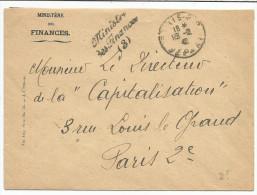 LETTRE EN FRANCHISE - GRIFFE MINISTRE DES FINANCES (3) 1942 - Marcophilie (Lettres)