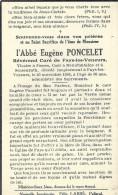 FAYS - LES - VENEURS ..-- Abbé Eugène PONCELET , Révérend Curé , Décédé En 1946 à 60 Ans . - Images Religieuses
