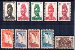Cameroun - 1939 - Definitives (Part Set) - MH - Cameroun (1915-1959)