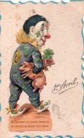 1er Avril. CPA Découpis. Rencontrant Ce Pauvre Orphelin Je L'en Voie Au Milieu Des Siens.. Clown, Cochon, Trêfle - 1er Avril - Poisson D'avril