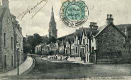 ECOSSE SCOTLAND GALASHIELS - Scott Crescent And St Paul's Church Cow Troupeau De Vaches Dans Les Rues - Selkirkshire