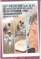 25.- AUDINCOURT .- 11e Fête De La BD  23-24 Octobre 1993 - Bolsas Y Salón Para Coleccionistas