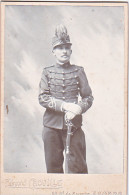 24132 Photo Soldat 31 Homme Casoar  Format 11x16cm Photographe E Cauville Bd Saumur Angers - Personnes Anonymes