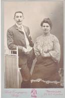 24133 Photo Couple Amoureux  Format 11x16cm Photographe Compagnie Belge Bruxelles 29 Chaussee Ixelles - Personnes Anonymes