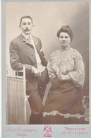 24133 Photo Couple Amoureux  Format 11x16cm Photographe Compagnie Belge Bruxelles 29 Chaussee Ixelles