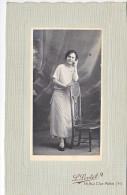 24134 Photo Femme  Format 11x6cm Photographe Lortet Rue Clerc Paris - Personnes Anonymes