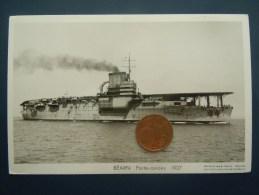 Bateaux Marine Militaire , Navire De Guerre , Marius Bar Phot. , Porte-Avions  BEARN 1927 - Guerre