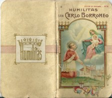 ED. S.L.E. -  HUMILITAS . SAN CARLO BORROMEO - LIBRETTO- Mm.78X138 - E - Religione & Esoterismo