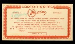Chocolat  Chocolade Carton - Prime Premie - Karton - Chocolaterie MEURISSE  Antwerpen  Anvers - Chocolade