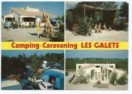 """CP ARGELES SUR MER, HOTELLERIE DE PLEIN AIR """" LES GALETS """", CAMPING CARAVANING, PYRENEES ORIENTALES 66 - Argeles Sur Mer"""