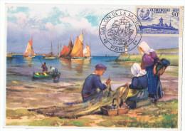 27/6/1943 - Carte  - PARIS - Salon De La Marine -  Clémenceau - Yvert Et Tellier N° 425 - Marcophilie (Lettres)